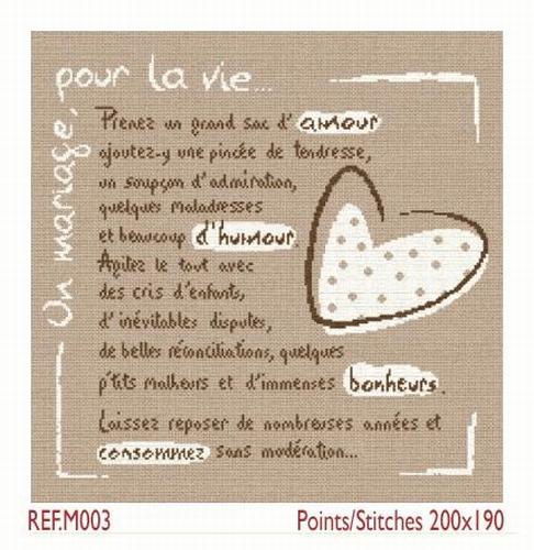 M003 La recette du Mariage