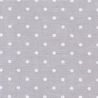 Belfast 12,6 fils/cm Gris clair pois blancs