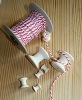 Cordelette bicolore Blanc/Rouge par 50 cm