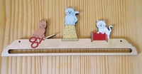 Cintre 3 Chats brodeurs Atelier des Elfes  22 cm