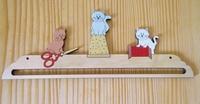 Cintre 3 Chats brodeurs Atelier des Elfes  15 cm