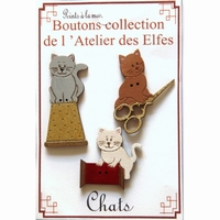 Boutons Chat Couture Atelier des Elfes