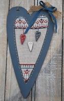 Kit point de croix Coeur Patriote Bee Cie P3CP