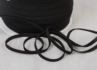 Elastique plat 5 mm Noir au metre