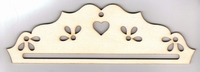 Cintre Bois Coeur et Fleur 23 cm