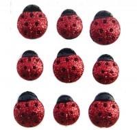Dress it up Button fun Glitter Ladybugs