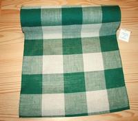 Bande à broder Vaupel Grands carreaux Vert/ Naturel par metre