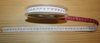 Ruban alphabet rouge par 50 cm