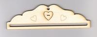 Petit cintre Bois  18cm coeur