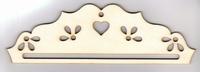Cintre Bois Coeur et Fleur 11cm